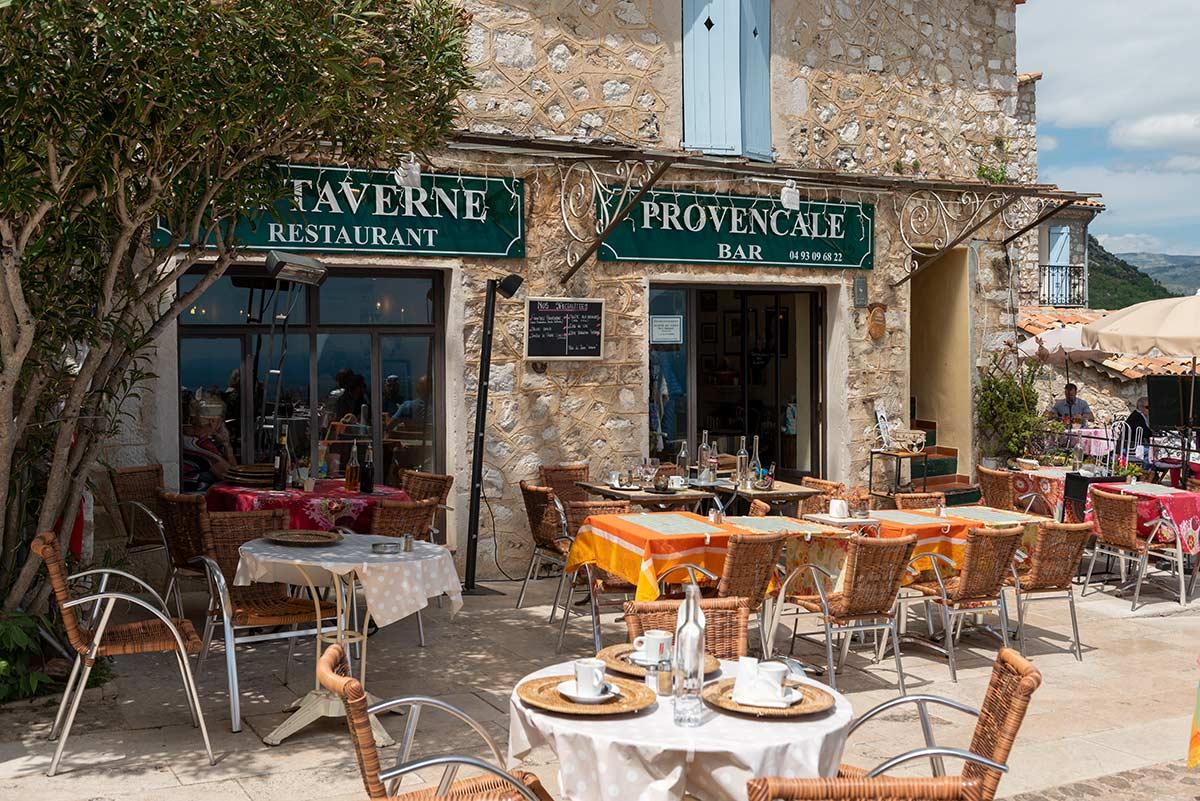 Terrace of La Taverne Provencale | Little Miss Turtle | Wheelchair Travel Blog