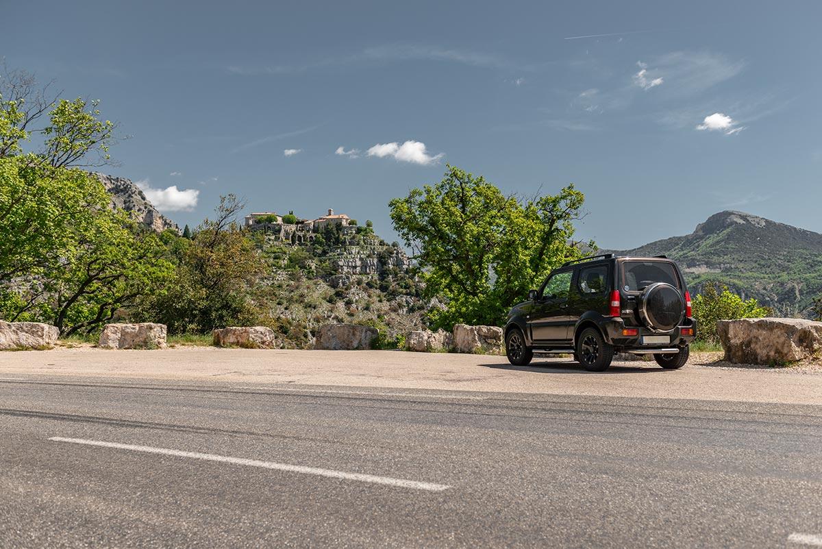 Viewpoint of Gourdon on Route de Caussols | Little Miss Turtle | Wheelchair Travel Blog