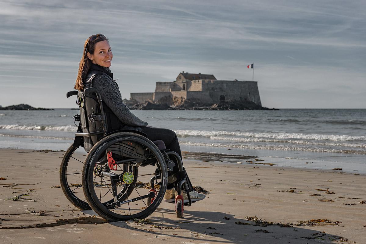 Eventail Beach in Saint-Malo | Little Miss Turtle | Wheelchair Travel Blog