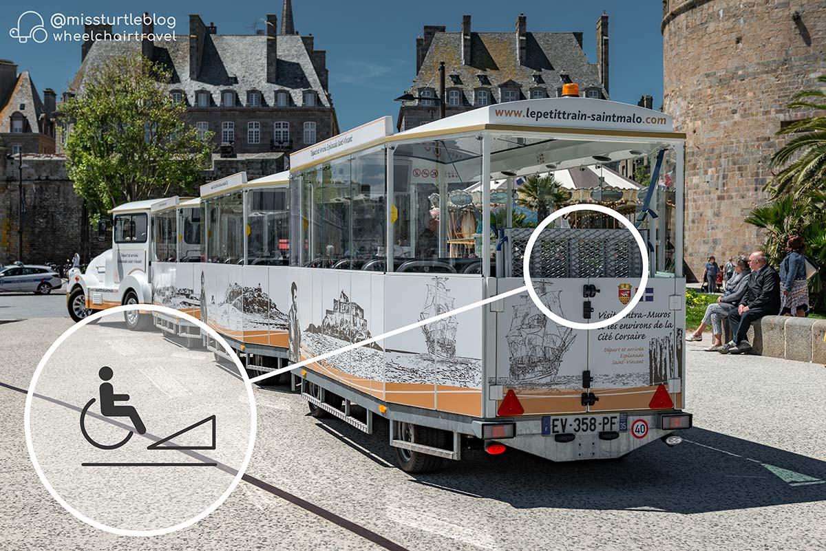 Le Petit Train de St Malo accessible | Little Miss Turtle | Wheelchair Travel Blog