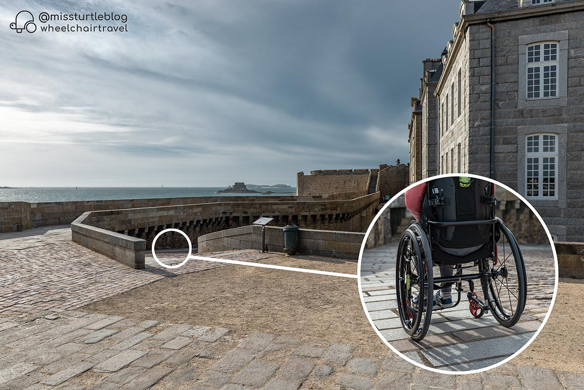 Ramp at Bastion St Philippe | Wheelchair Accessibility of Saint Malo | Little Miss Turtle