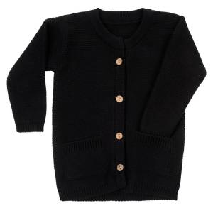 CARLIJNQ | KNIT CARDIGAN - BLACK