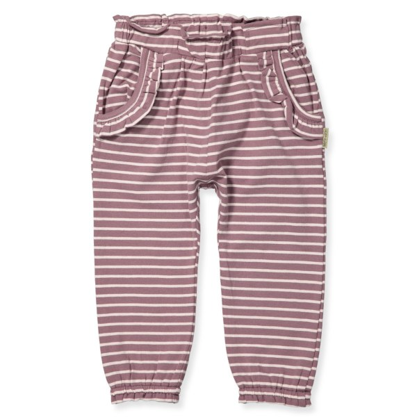 HUST & CLAIRE | SWEATPANTS MED FRYNSER - STRIBET ROSA (str. 68-86)