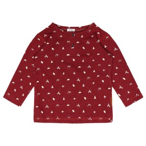 HUST & CLAIRE | SWEATSHIRT MED MOTIVER - BORDEAUX (str. 98-116)