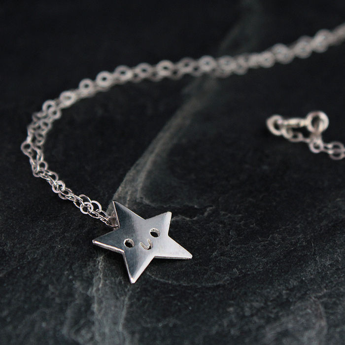 Doodllery Necklace Silver Star Little Moose Quirky