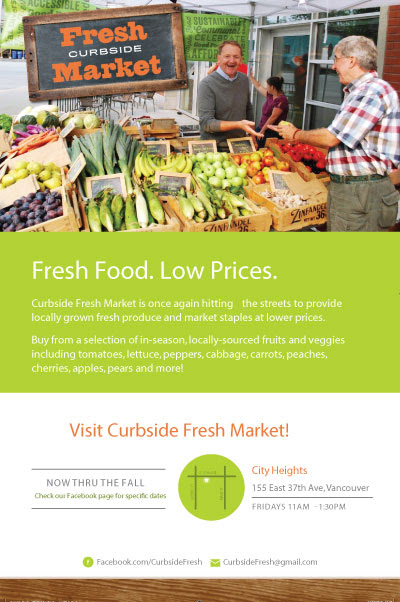Curbside market flyer