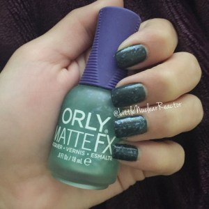 ORLY Matte FX in Green Flakie Top Coat