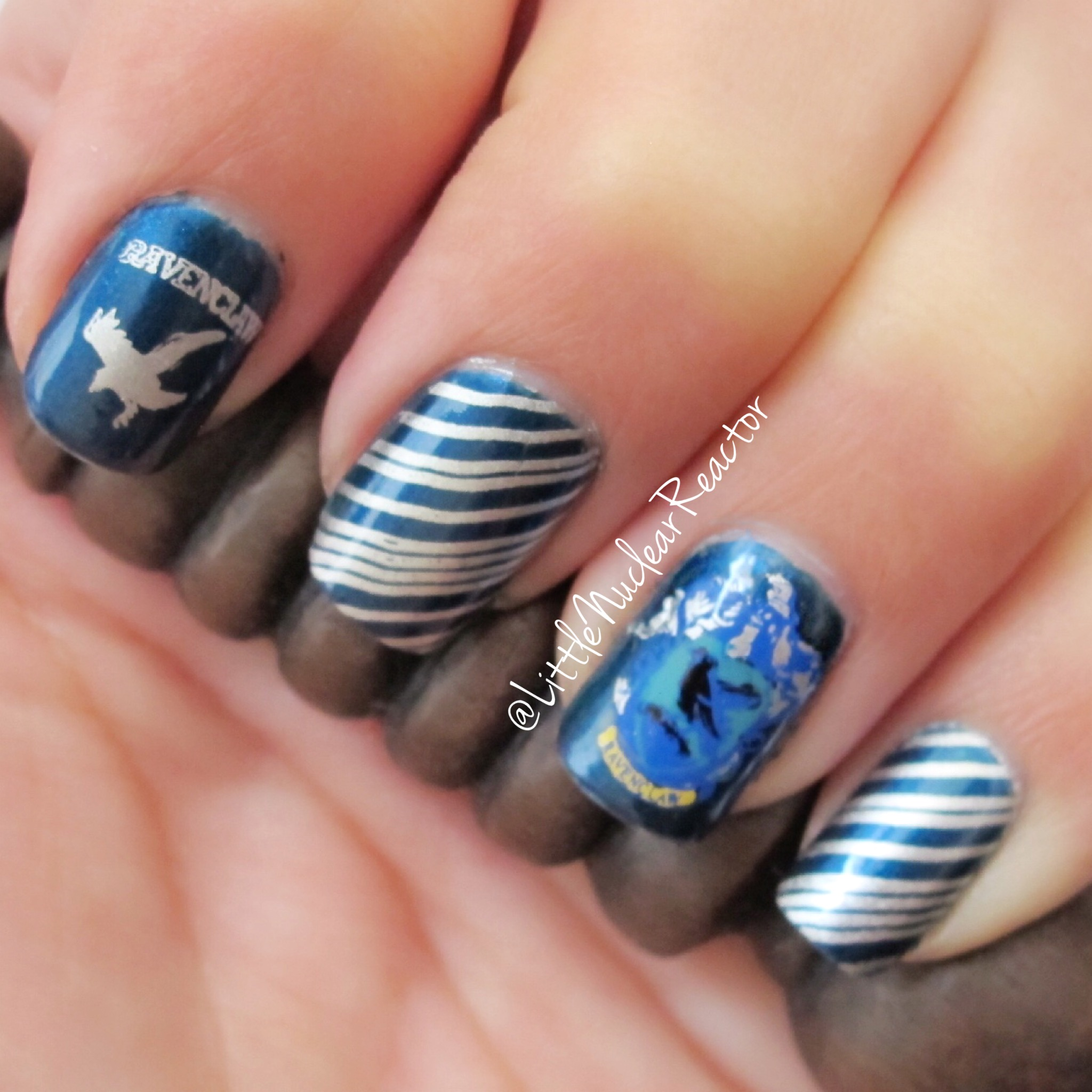 Dahlia Nails Ravenclaw Nail Art: Houses Of Hogwarts Ravenclaw Edition