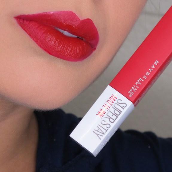 Maybelline SuperStay Matte Ink in Pioneer Lip Swatch