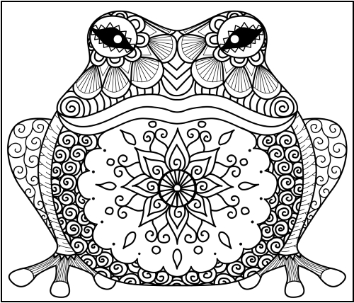 Animal Zentangle Coloring Pages Little Pagan Acorns