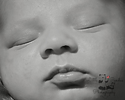 Newborn photography Hythe Kent baby features close up black and white