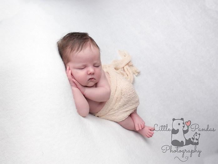 Newborn baby photography Hythe Kent Baby asleep on side