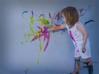 Birthday photography Kent Paint splash Boy painting