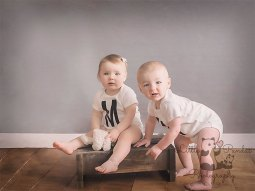 Boy and girl twins 1st birthday
