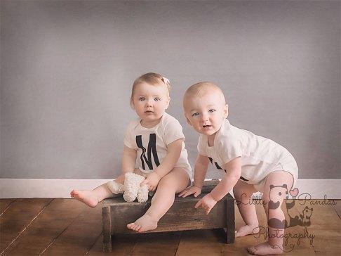 Boy and girl twins 1st birthday