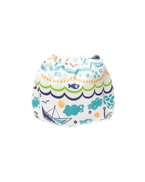 couches de bain lavables pour bébé aqua