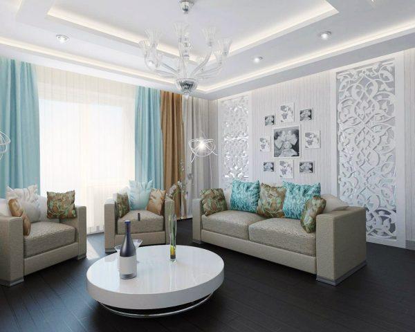 Светлые обои в зал фото » Современный дизайн на Vip-1gl.ru