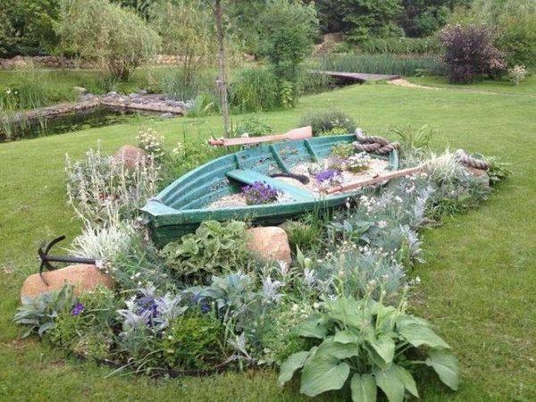 boat garden planters