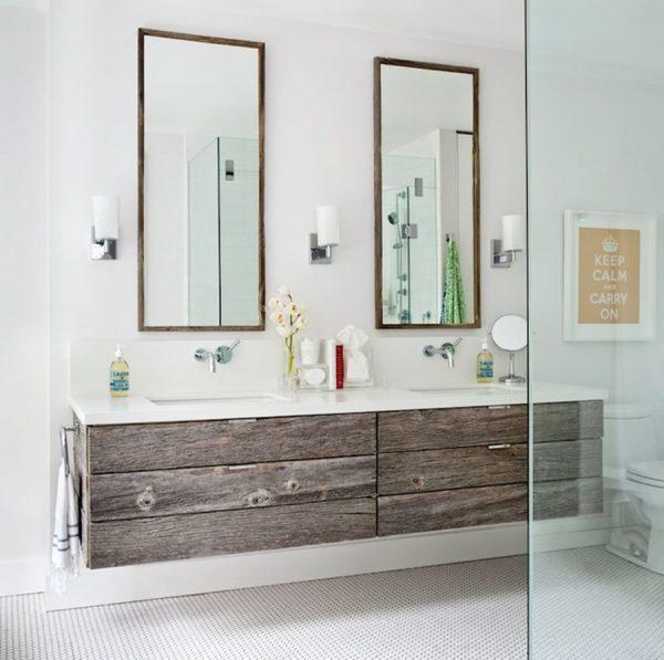 floating double vanity