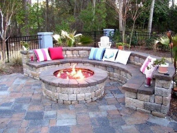 outdoor stone seating