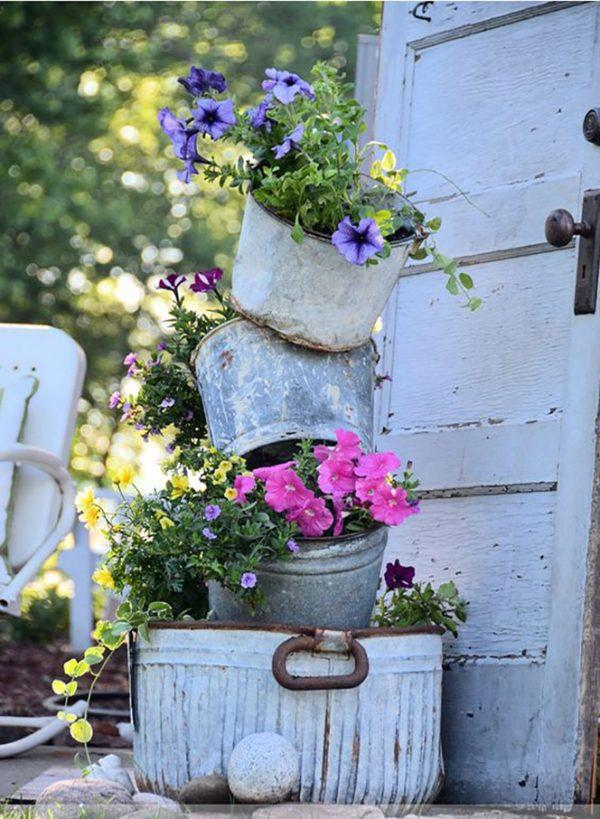 vintage garden planters