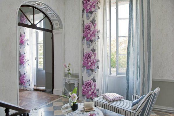 rose curtains