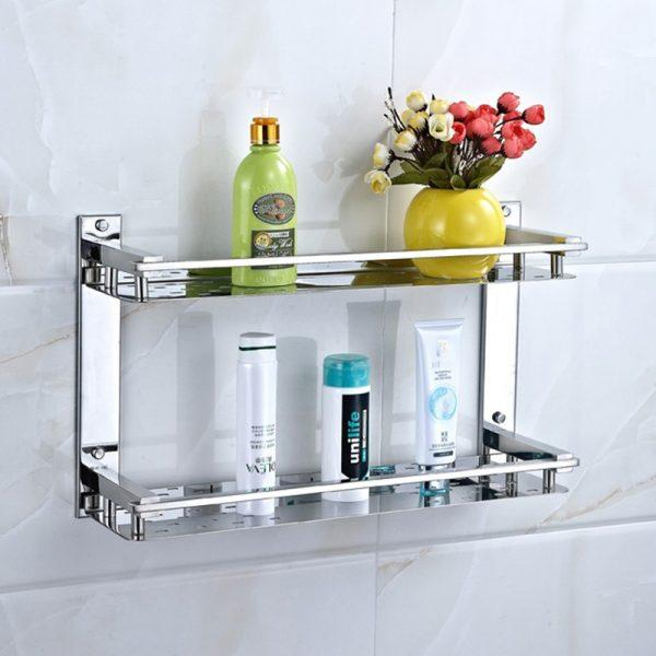stainless steel bathroom shelves
