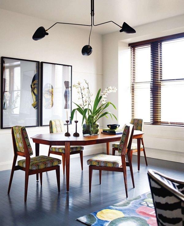 mid century modern dining room table