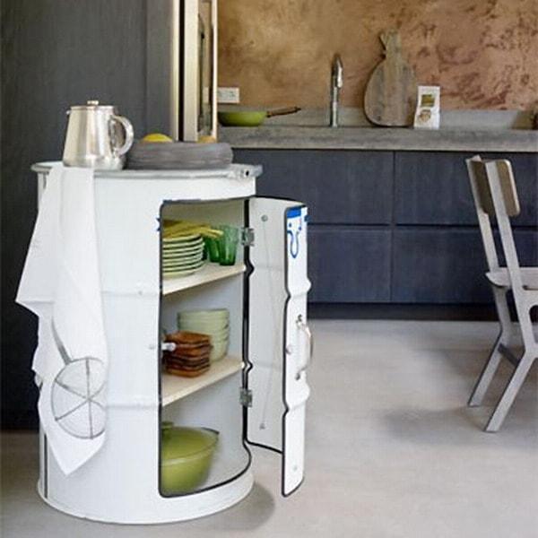 storage drum table