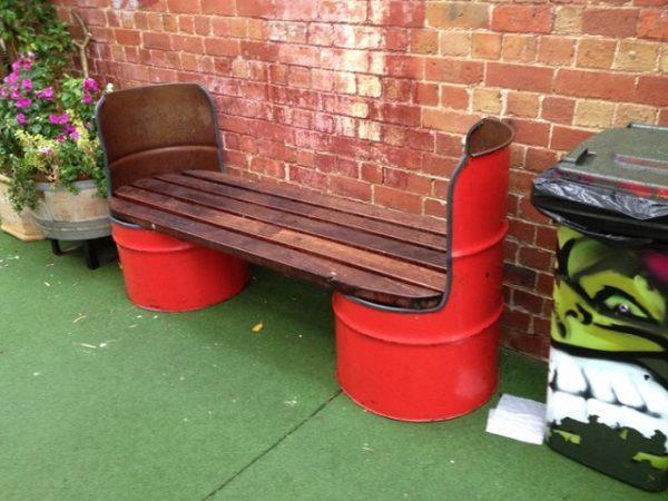oil drum seats