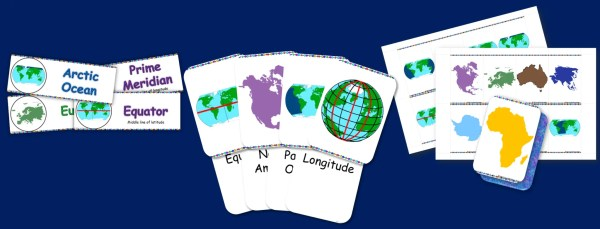 Continents and oceans resource bundle thumbnail 1