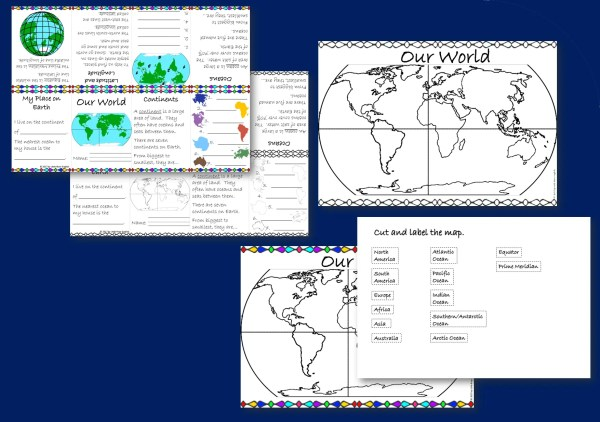 Continents and oceans resource bundle thumbnail 2