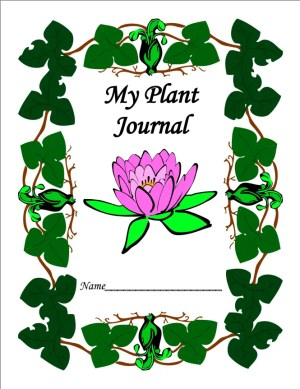 Plant journal cover with flower