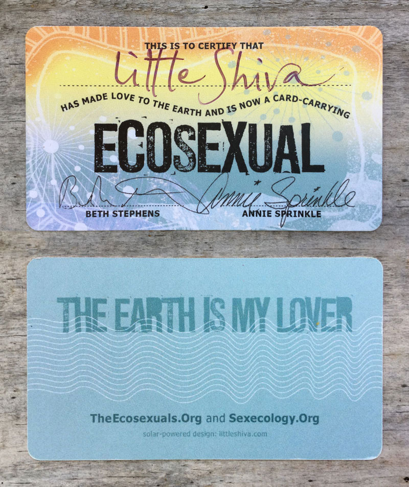 beth Stephens and Annie Sprinkle: Ecosexual membership card