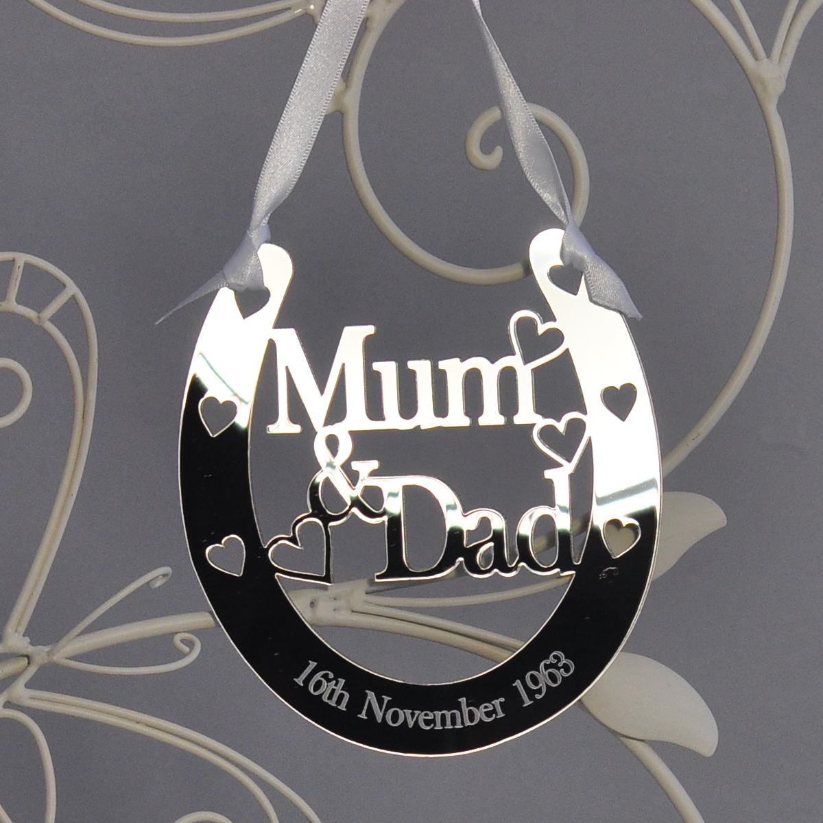 Personalised Mum Amp Dad Lucky Horseshoe Bridal 25th Wedding