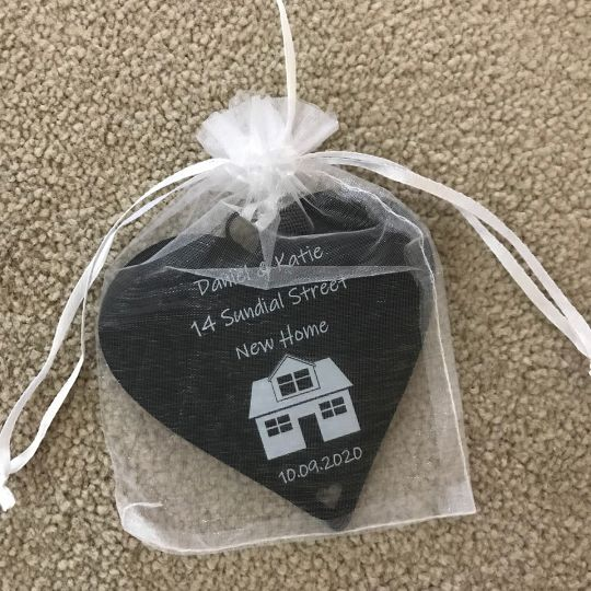New Home Gifts Personalised Housewarming Present Heart Plaque 10cm Little Shop Of Wishes