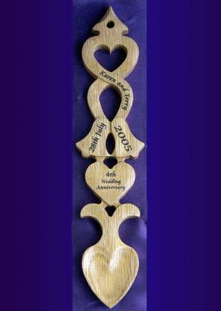 Engraved Wedding Or Anniversary Welsh Love Spoon L86