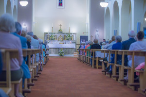 EEjob 23/07/2015 ANN MURPHY Blackpool Church of the Annunciation, Blackpool, Cork Mass to celebrate the 150th anniversay of the founding of the Little Sisters of the Assumption religious order. A well attended Mass held at Blackpool Church on Thursday evening. Picture: Andy Jay