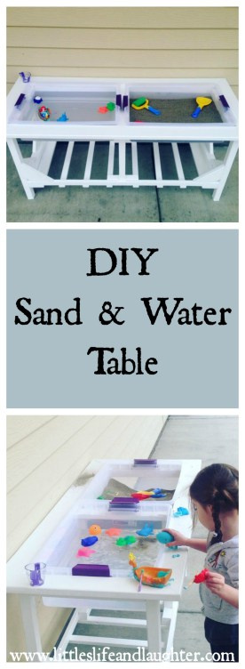 Diy sand and water table littles life laughter for Diy sand and water table pvc