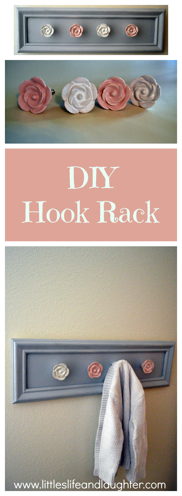 DIY Hook Rack - Littles, Life, & Laughter