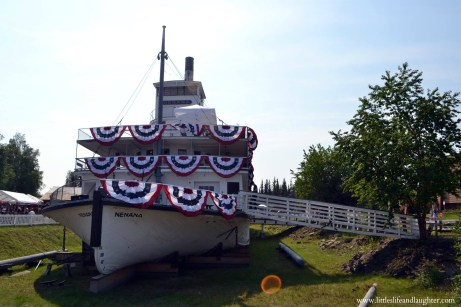 You can walk inside the Steamboat Nenana at Pioneer Park.