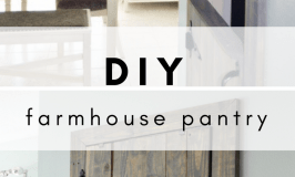 DIY Farmhouse Pantry Door