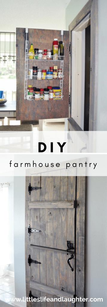 Diy Farmhouse Pantry Door Littles Life Amp Laughter