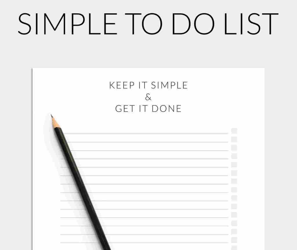 simple to do list - free printable pdf - little star journals