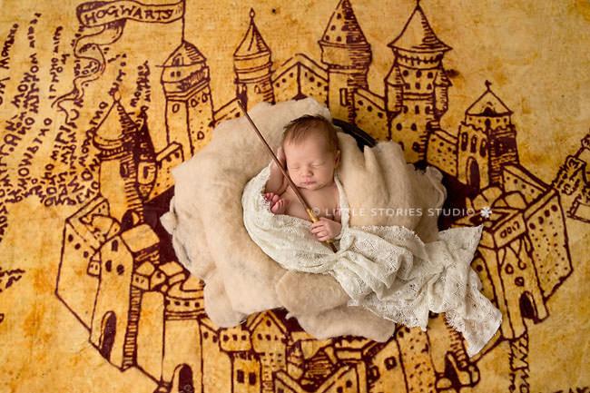 Harry Potter Newborn Photos marauders map mischief managed