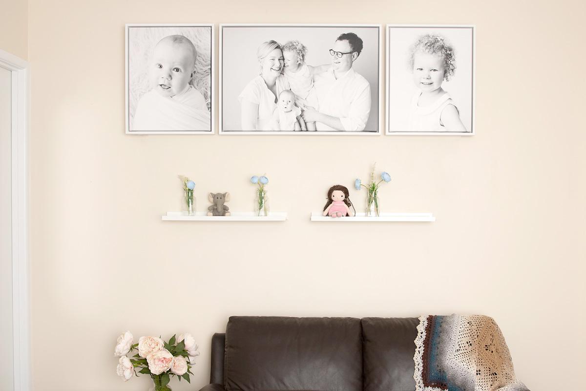 custom framing family portrait photography brisbane