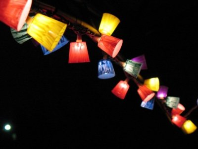 DIY Plastic Shot Glass Patio Lights
