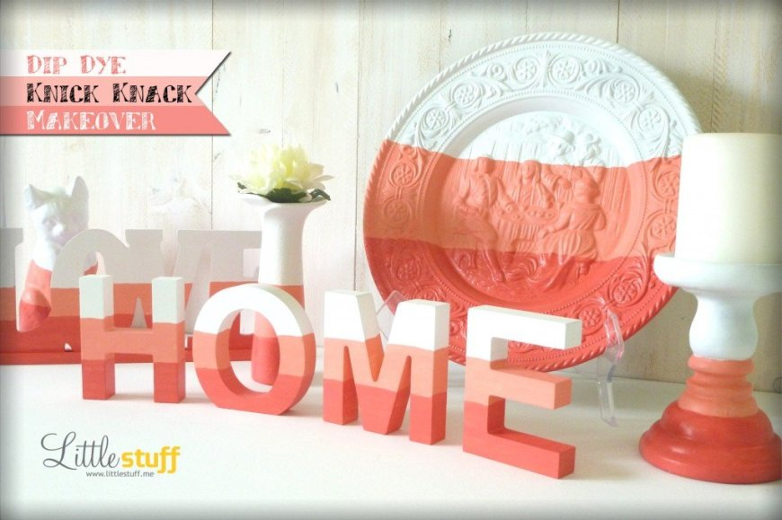 Dip Dye Knick Knack Makeover: Turn kitsch into chic decor