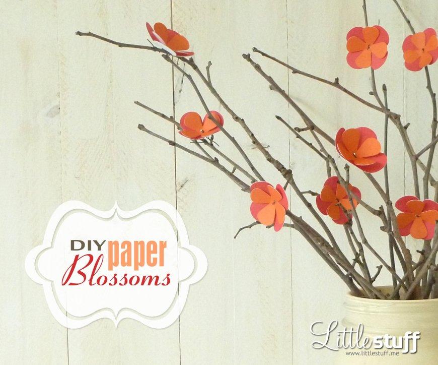 DIY Paper Blossoms