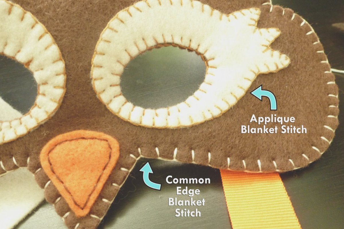 Two kinds of blanket stitch